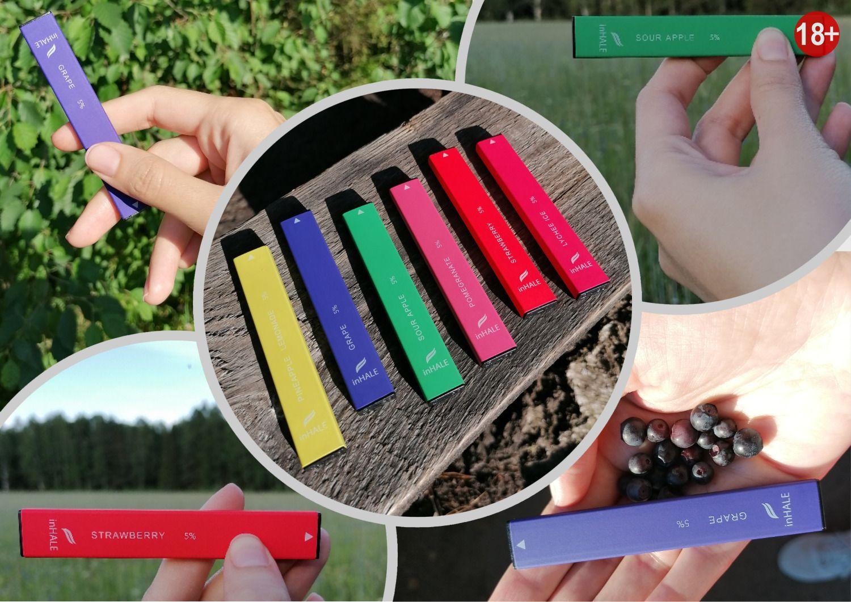 одноразовые электронные сигареты inhale состав